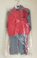 Lonsdale Baby Jogger Tracksuit.GreyM/PRose 18-24months.New.RRP £32.99