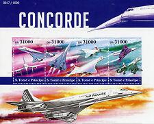 Sao Tome & Principe 2015 MNH Concorde 4v M/S Aviation Planes Airplanes Stamps