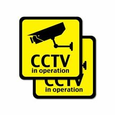 CCTV In Operation Surveillance Stickers Decal