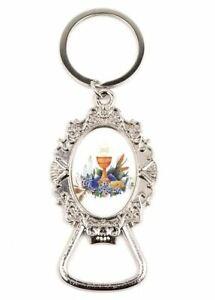 12 X First Communion Keychain Bottle Opener Favor Recuerdor De Mi Bautizo