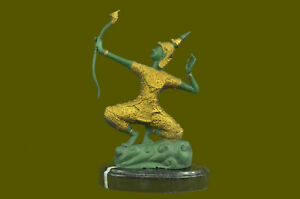 RELIGIOUS HINDU DANCER RAMA Handcrafted Art Bronze Sculpture Statue Figurine T