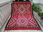 Vintage Handmade Moroccan Azilal Berber Rug Beni ourain Tribal Wool Carpet