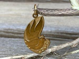 Anhänger Kettenanhänger 8k 333 Gelb-Gold Love Taube Liebe Amulett Charm Geschenk