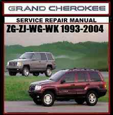 JEEP GRAND CHEROKEE ZG-ZK-WG-WJ Laredo 1993-2004- Limited Workshop Manual  CD