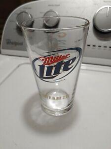 RARE Miller Lite Beer Walter Payton Chicago Bears Football Advertising Glass 34