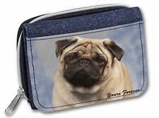 Fawn Pug Dog 'Yours Forever' Girls/Ladies Denim Purse Wallet Christmas, AD-P1yJW