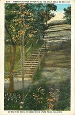 Starved Rock Park Illinois~Steps: Only Trail to Top~Historic Battle Ground~1920s
