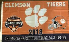 Clemson Tigers 2018 CFP National Championship Flag 3 X 5 College Football Orange