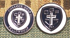 """Limited Edition_COLLEGE GOLF FELLOWSHIP 1"""" Gold Plated 2-Sided Golf Ball Marker"""