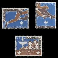 FRENCH POLYNESIA Sc# C 134-6, 1976 OLYMPIC GAMES, MONTREAL - MINT F-VF NH