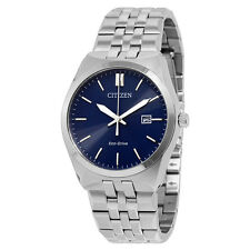 Citizen Corso Eco-Drive Blue Dial Stainless Steel Mens Watch BM7330-59L