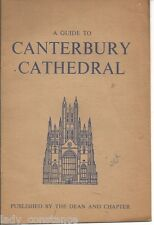 vintage guide Canterbury Cathedral Kent