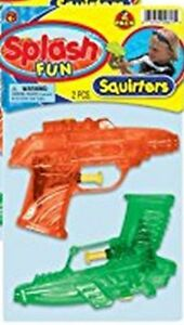 2 PACK WATER PISTOLS TOY SQUIRT GUNS WATER SQUIRTERS PLASTIC PLAY