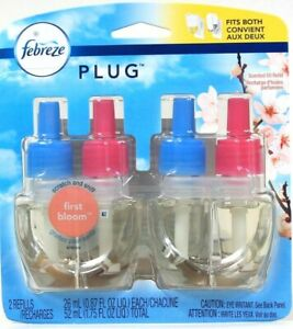 1 Package Febreze Plug 1.75 Oz First Bloom Up To 45 Days 2ct Scented Oil Refill