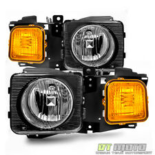 2006-2010 Hummer H3 H3T Headlights Headlamps Aftermarket Left+Right 06-10 Pair