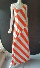 LUISA CERANO langes Kleid weiß orange Gr.40--UK14***UVP Euro 349,95**NEU