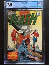 FLASH #123 CGC FN/VF 7.0; OW; re-intro Golden Age Flash!