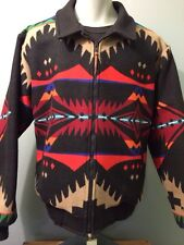 Vtg Pendleton Indian Blanket Jacket High Grade Coat Wool Mens Western Cowboy Lg