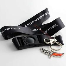High Quality Corvette C6 Emblem Badge Lanyard Keychain Neck Strap Quick Release