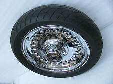 "17"" Chrome Front Wheel & Dunlop Tire & Rotor Harley Davidson motorcycle"