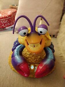 """Disney MOANA Tamatoa Singing SHINY Crab 7"""" Treasure Jewellery Box Figure *read*"""