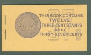 US BK 84a-2 panes of 6-3c STAMPS ISSUED 1932-54 MNH with cellophane interleaving