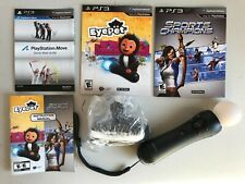 New - Sony PlayStation Move Motion Controller (CECH-ZCM1U) + Eye Camera + 4 Game
