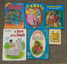 Antiguos 6 libros pour enfants, Maya Candy Blancanieves old french book