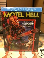 Motel Hell (Blu-ray Disc, 2014) NEW w/ OOP *MINT* SLIPCOVER scream factory