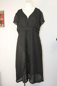 Liz Jordan Ladies Black & White Dress, Size 16