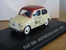 IXO ALTAYA EAGLEMOSS AUTOSCUOLA UCCI FIAT 600 1955 CAR MODEL HF000 1:43