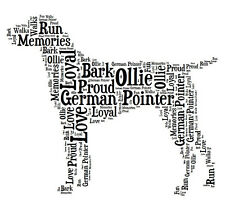 Personalised German Pointer Dog Lovers Word Art Print Great Gift