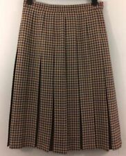 Calf Length Wool Checked Business Skirts for Women