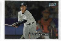 2018 Topps stadium club chrome parallel Hideki Matsui SCC-300 New York Yankees