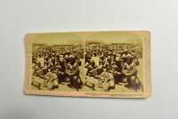 Works & Studios South African Soldiers Antique Stereoview Photgraph Card