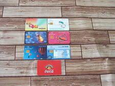 Belgique - Belgium 7 anciennes telecartes /  old phonecards au puce / chip