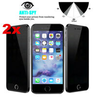 2PCS Privacy Anti-Spy Tempered Glass Screen Protector for iPhone X 7 8 Plus 6S 6