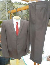 Rat Pack 3 Button 1960s Wool Suit 44R 35x30 - Skinny Lapels & Very Alterable