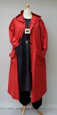 """100% COTTON OVERSIZED HOODED 2 POCKETS LONG JACKET/COAT**RED**BUST UP TO 50"""""""