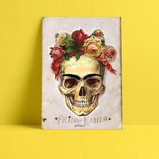 Frida Kahlo Skull Painting A4 FREE Shipping High Quality Borderless Poster