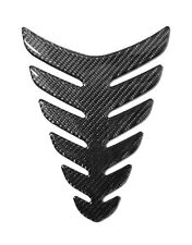 REAL CARBON FIBER GAS FUEL OIL TANK PAD PROTECTOR STICKER MOTORCYCLE.