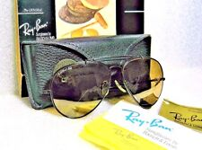 "RAY-BAN VINTAGE B&L*NOS AVIATOR ""THE GENERAL"" W0510 RB-50 BllakChrome SUNGLASSES"