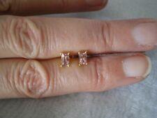 Natural Pink Tourmaline stud earrings, 0.62 carats, 0.89 grams of 9k Yellow Gold