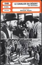 LE CAVALIER DU DESERT - Cooper,Wyler (Fiche Cinéma) 1940 - The Westerner
