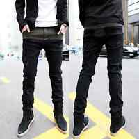 New Hot Mens Stylish Fashion Designer Slim Fit Jeans Trousers Pants 0404