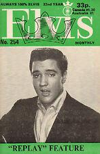 ELVIS MONTHLY No. 254 - 1981 (UK FANCLUB MAGAZINE ELVIS PRESLEY)