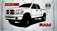 2006-08 Dodge Ram emblem custom banner sign 2'X4' NEW COLORS AVAILABLE