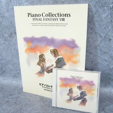 FINAL FANTASY VIII 8 PIANO COLLECTIONS Set of SCORE & MUSIC CD Book Japan *