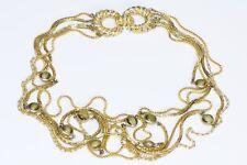 Pierre Cardin Gold Tone Multi Chain Glass Necklace