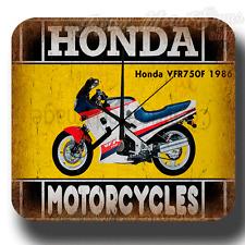 Honda VFR750F 1986 MOTORCYCLE  VINTAGE  METAL TIN SIGN WALL CLOCK